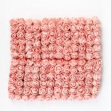 36/72/144 Uds. Rosas artificiales de espuma para el hogar boda flores falsas decoración álbum de recortes Diy caja de regalo con corona ramo barato