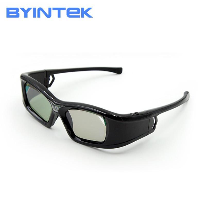 BYINTEK Luxury Active DLP Link Shutter 3D Glass GL410 For BYINTEK DLP 3D Projector UFO R20 R19 R15 R9 R7 P12