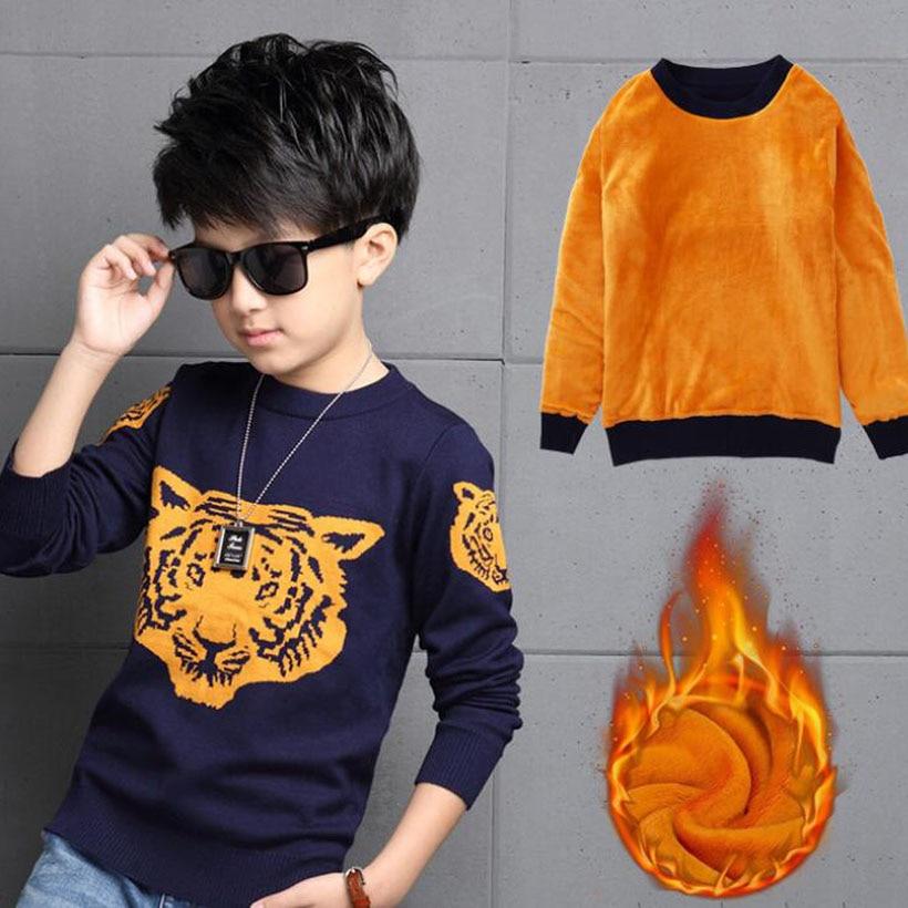 d01951f6633e1 春子供男の子のセーター2016編み子供セーターやカーディガンファッション厚い綿子供服男の子ニット