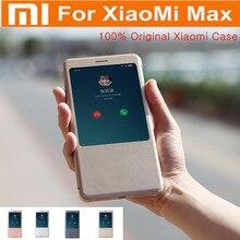 100% Original Xiaomi Mi Max Case PC+PU Smartwake Window Flip Cover Case For Xiaomi Max Mobile Phone Fashion Cover Phone Fundas