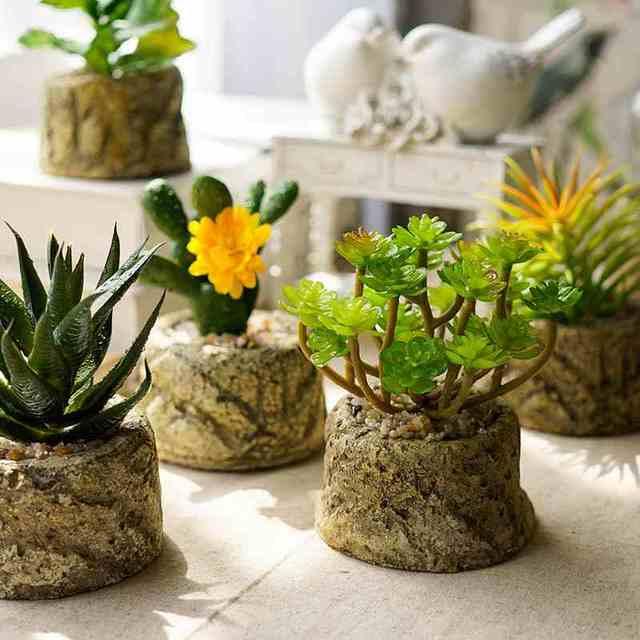 La Simulacion De Plantas Suculentas Flor Artificial Plantas Verdes
