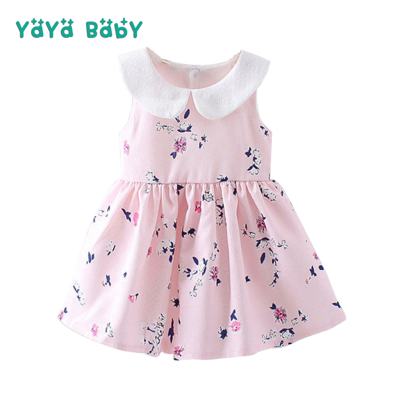 2018 New Baby Girls Dress Summer Floral Newborn Princess Birthday Party Dresses Sleeveless Bow Infant Girl Clothes Baby Costume little girl party dress baby new 2018 sleeveless v neck girls summer floral dress princess girls spring clothes for children