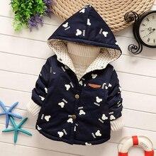 2017 осень зима одежды для мальчиков девочек ребенка верхняя одежда ребенка ветровка куртка мода хлопок-проложенный пальто Мультфильм Мышь