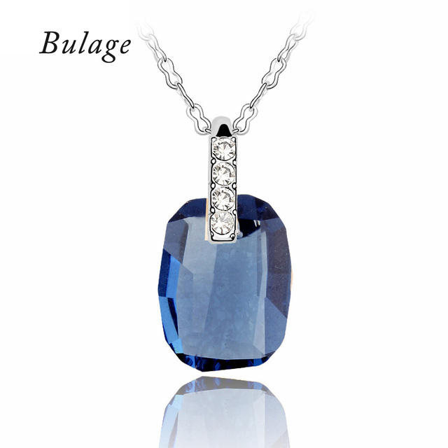 100% Crystals From Swarovski Pendants Necklaces Concise Geometrical Fashion Chain Collier Mother's Day Gift 2017 Jewelry