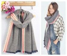 Za genuine Major brand Unisex fashion Tartan scarfs Plaid Stripe Scarf cuadros popular women s big