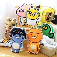 1pc 55cm kakao friend RYAN lion APEACH NEO cat TUBE duck CON plush pillow soft cushion novelty romantic stuffed toy