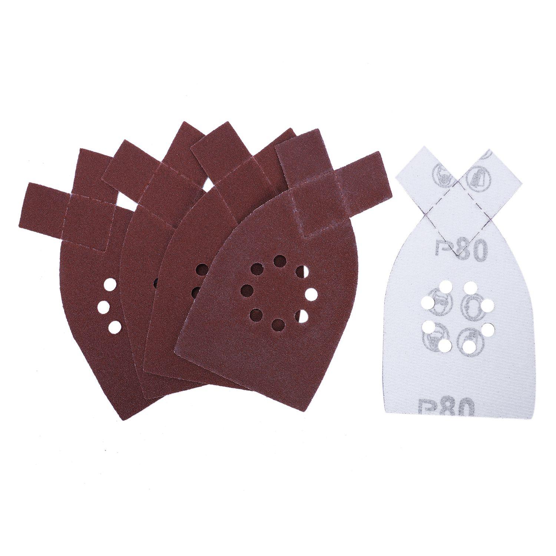 Retail 50pcs/set 105*175mm Sander Sanding Sheets Grit Sandpaper For BLACK DECKER KA220G KA230 40,60,80,100,120 Grit Abrasives