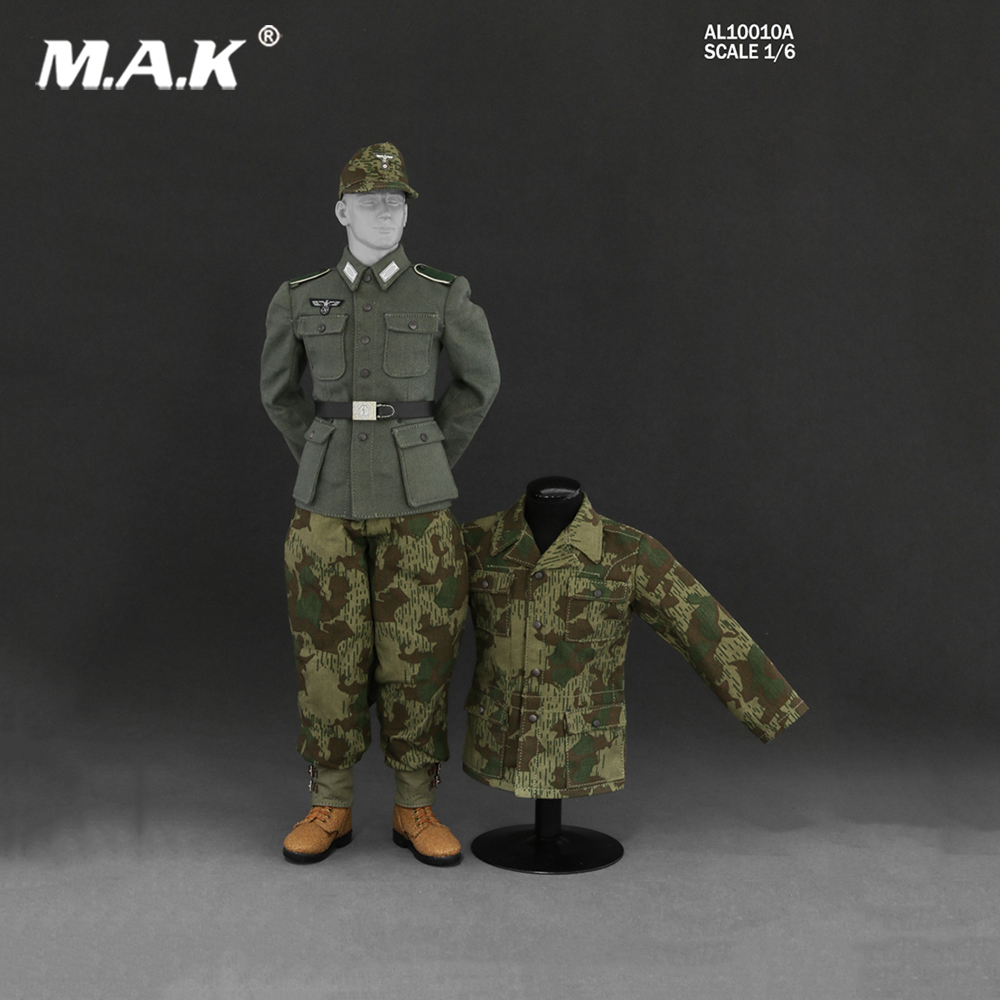 1:6 Scale AL10010 WWII German Wehrmacht and the SS Camouflage Uniform Suit Model for 12 inches Male Action Figure world war ii german wwii wehrmacht officer 1 6 soldier set model stanford erich vo gm637 for gift collection