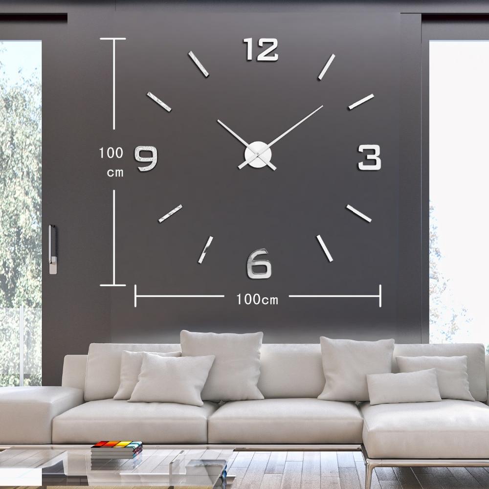 Wandklok groot modern studio kop en schotel - Relojes de salon modernos ...