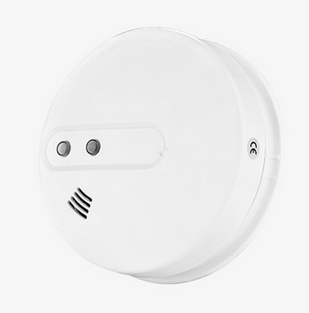 (1 PCS) GSM Alarm System Accessories Wireless Smoke sensor Home Security Alarm Fire Control Detector 433MHz NO battery minritech 110 220v wireless smoke fire detector smoke alarm for touch keypad panel wifi gsm home security system