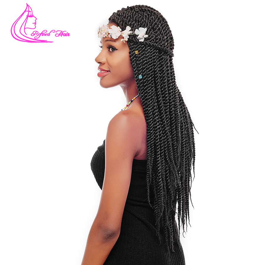 Refined Hair 12 14 16 18 22inch 22roots Crochet Braids Senegalese