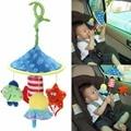 Cama de bebé Berço Sino Educacional Brinquedo Macio Chocalhos de Brinquedo de Pelúcia Girar brinquedo Wind-up Torção Carro e Carrinho De Bebê Chocalhos Engraçado brinquedo