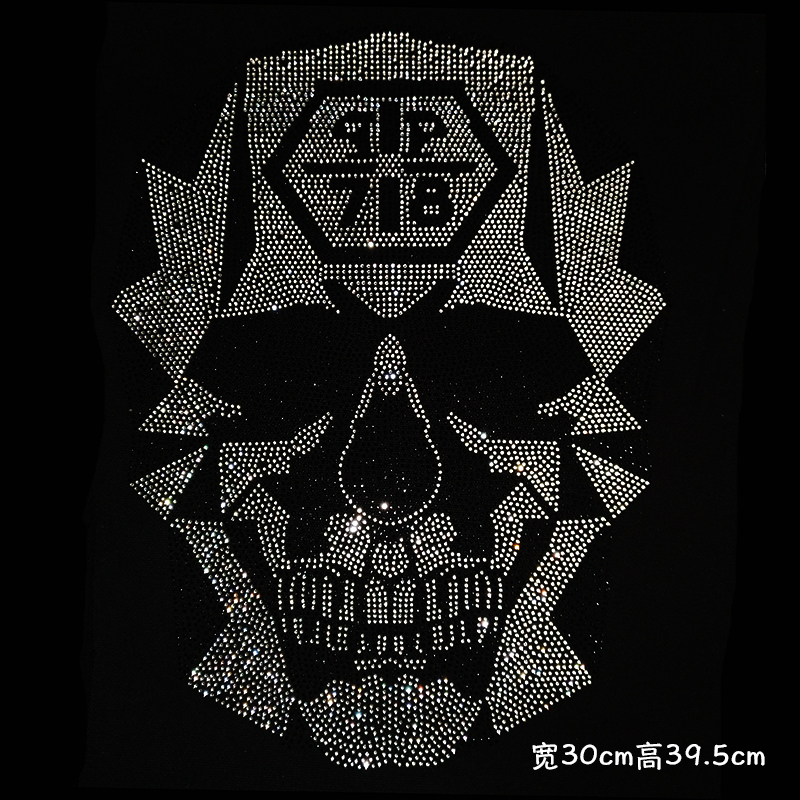 Cool is the Rule Embroidered Iron On Motif Applique Black /& Silver eac...