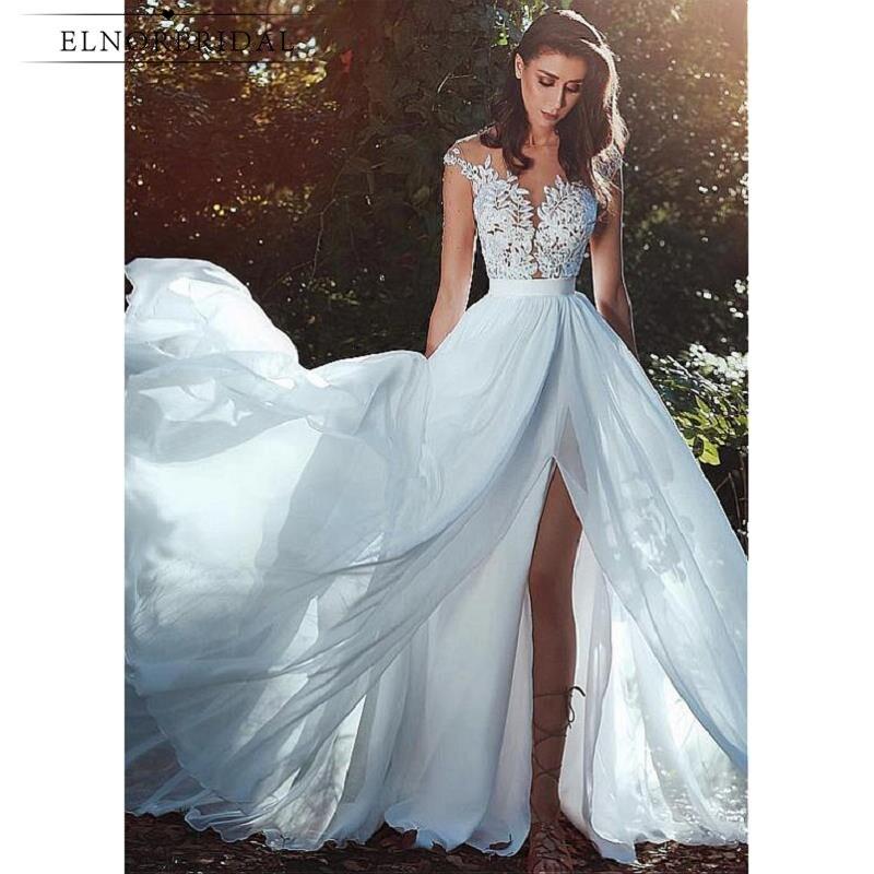 Modest Wedding Dresses 2019: Modest Lace Wedding Dresses 2019 Vestidos De Novia Cap