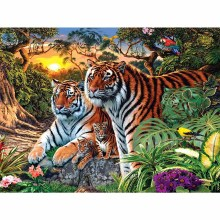 DIY Diamond Painting full Lion leopard embroidery square wolf tiger Mosaic painting flower 5D drill