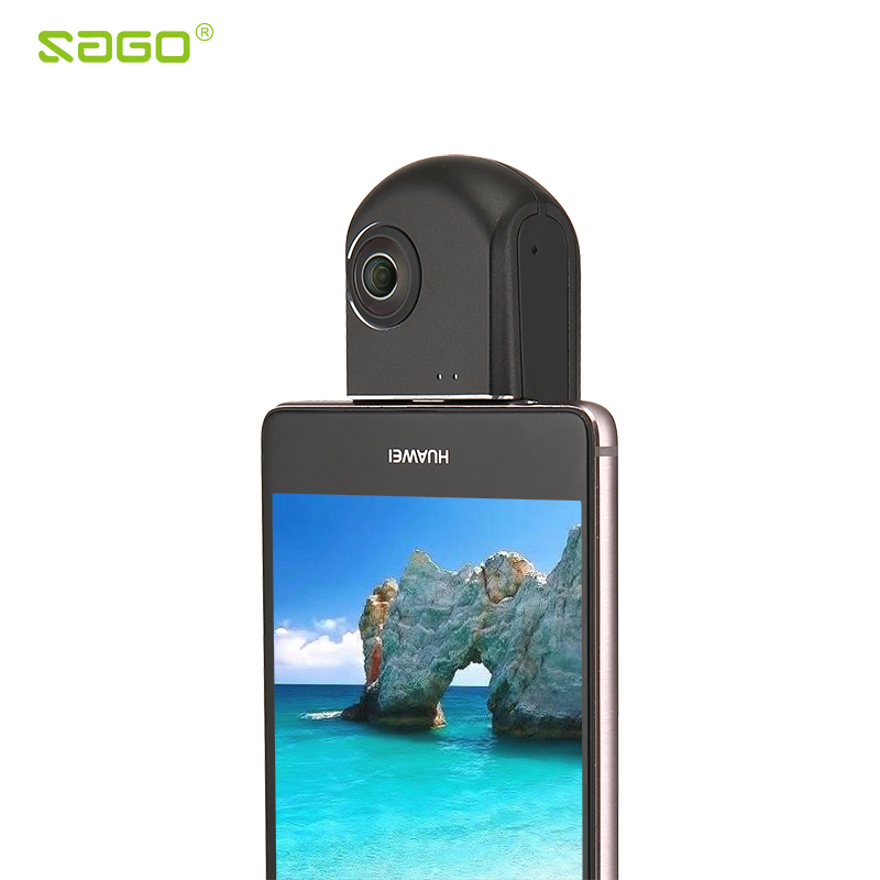 Sago 360 video camera wireless VR camera HD Panoramic Panorama  Wide Dual Angle Fish Eye Lens VR Video Camera for Andriod phones