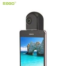 Саго 360 видеокамера беспроводной камеры VR HD панорамный панорама широкая двойная угол рыбий глаз VR видео Камера для Andriod телефонов