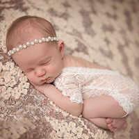 Neugeborenen Fotografie Requisiten Baby Infant Spitze Neugeborenen Fotografie Zubehör Baby Girs Lange Ärmeln Band Für Baby Foto Schießen