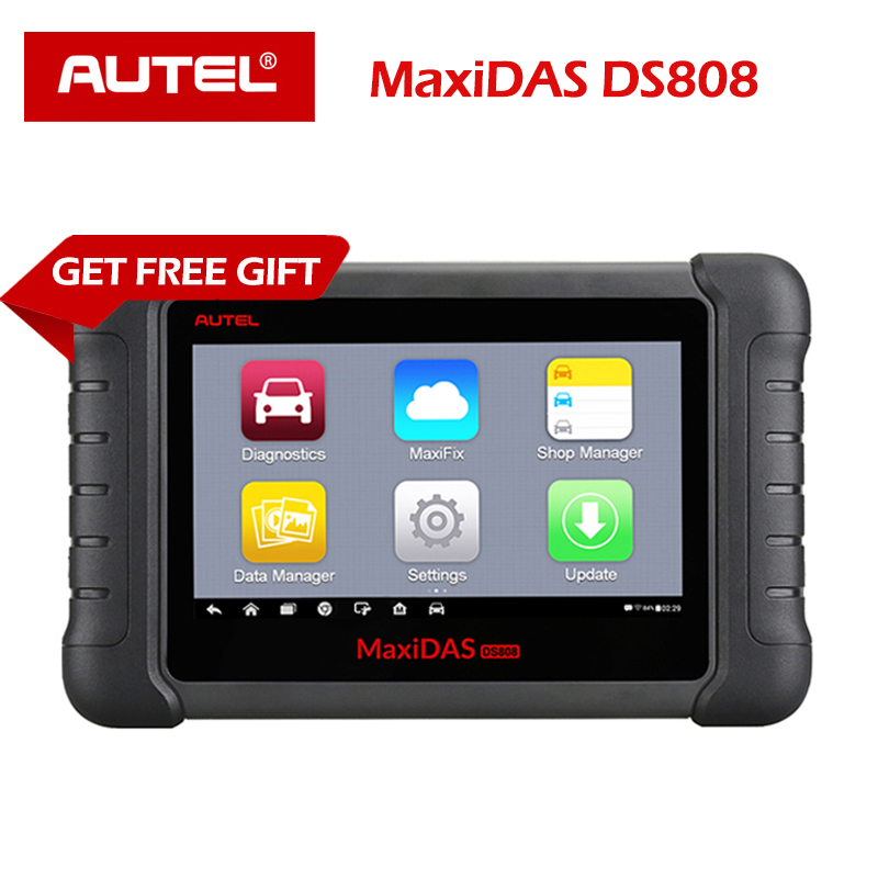 Autel MaxiDAS DS808 Diagnostic Tool DS708 DS808 Full System Car Diagnostic and ECU coding Tool with full OBD OBD2 adapters-in Engine Analyzer from Automobiles & Motorcycles