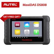 Autel MaxiDAS DS808 Diagnostic Tool DS708 DS808 Full System Car Diagnostic and ECU coding Tool with full OBD OBD2 adapters