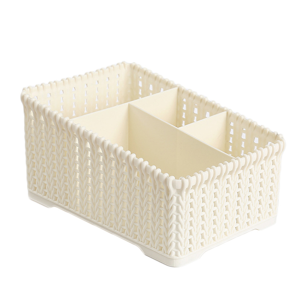 Four grids Plastic Makeup Organizer for Storage of Makeup Brush and Other Beauty Essentials Suitable for Home Office and College 3