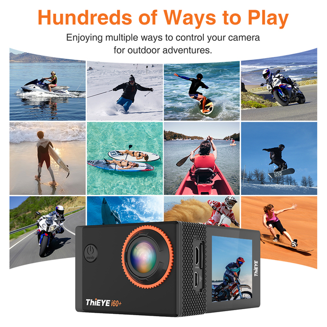 ThiEYE i60+ 4K 30fps Full HD WiFi Remote Control Action Camera 60M Waterproof Sports video Camera 170 Degree Wide-angle cam 4