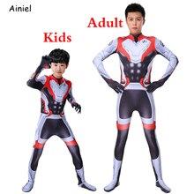 Endgame War Infinity Captain America Quantum Realm Cosplay Costume Bodysuit Suit Jumpsuit Zentai Super Heros Men Kids
