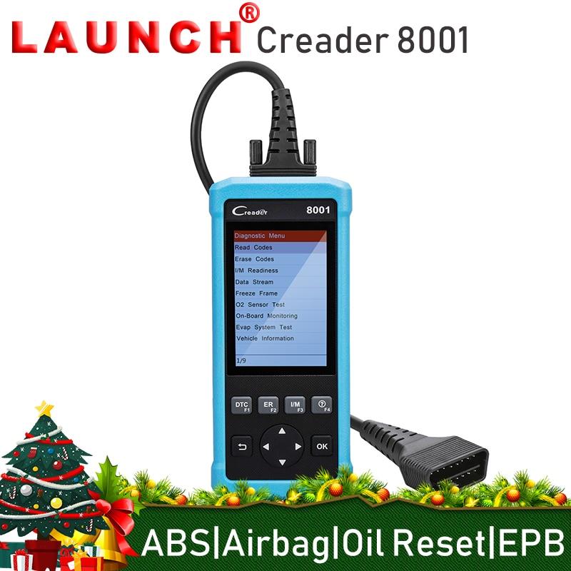 Lancio Creader Lettore di Codice 8001 CR8001 Scanner Completa OBDII EOBD Funzioni di Diagnostica Strumento di ABS SRS EPB Luce di Servizio Dell'olio Ripristina