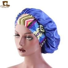 New Elastic Headband Satin Bonnet Sleep Cap Women Cosmetic Salon Hat Elastic Wide Band Hair Protect Head Cover Night Sleep Hat