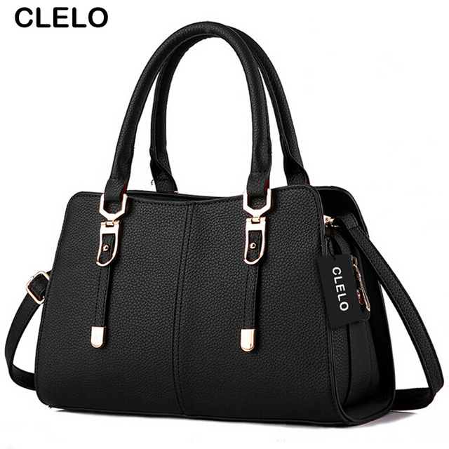 CLELO Fashion Women Handbag Women Famous Brand Designer Luxury PU Women Messenger Bag Shoulder Crossbody Bags