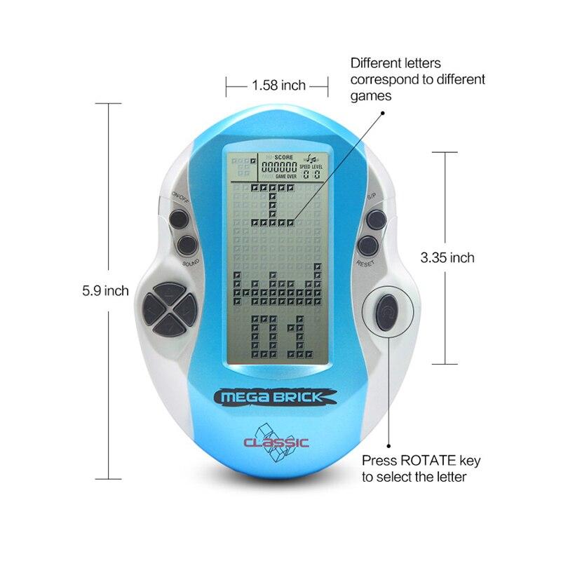 Купить с кэшбэком Big Screen Handheld Game Player Classic Video Tetris Game Console for Gaming Portable Video Game Retro Child Kid Toy Birthday