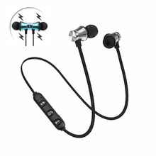 Magnetic Wireless Bluetooth Earphone Bass In-Ear Headset Waterproof Sports Earbuds with MIC Volume Control