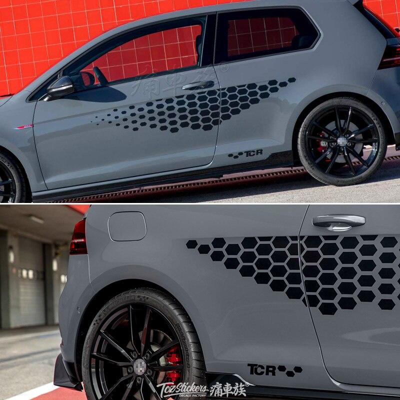 Pour Volkswagen Golf 2019 voiture autocollants tirer fleur GOLF 7 apparence modifié sport corps décoration modifié GOLF autocollant film