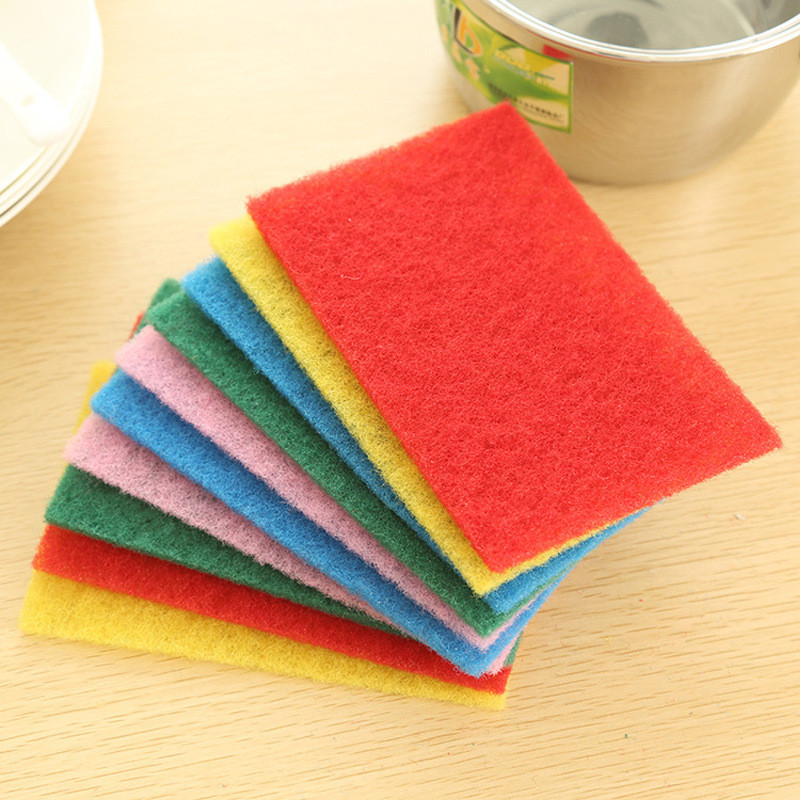 10 Pcs Set Color Highly Efficient Scouring Pad Dish Cloth Rhaliexpress: Kitchen Rags At Home Improvement Advice