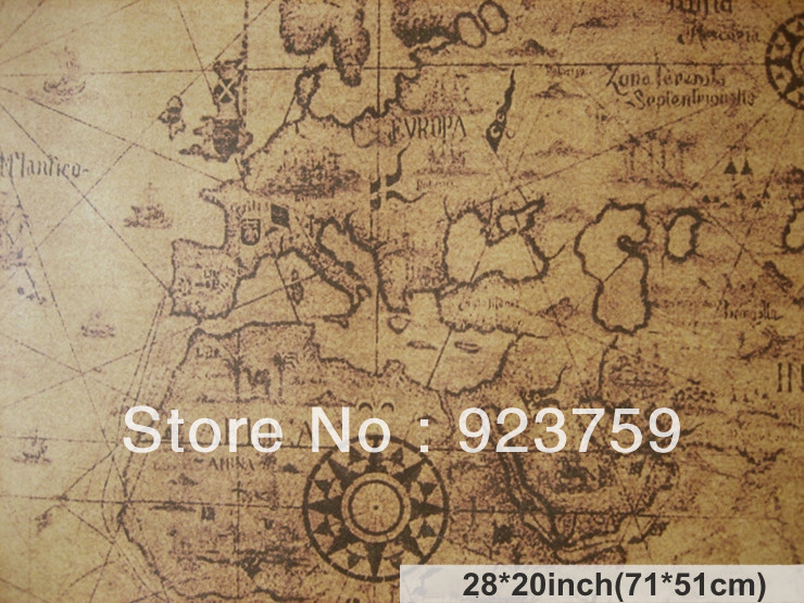 COMBINE SHIPPING Large Vintage Style Decorative Painting Retro - World map poster vintage style