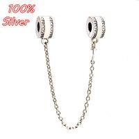 Sliver 925 antique women's safty chain accessories DIY classical bracelet jewelry for women factory wholesale