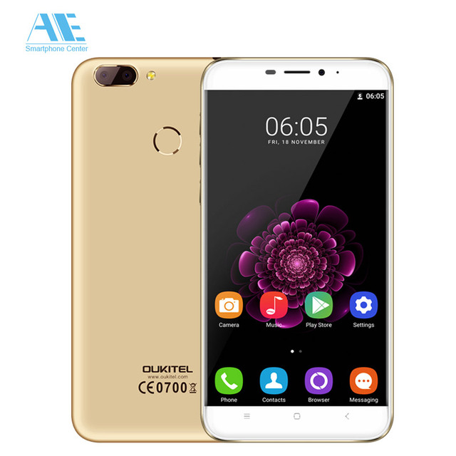 Oukitel U20 Plus Dual Rear Camera MT6737T Quad Core Android 6.0 Fingerprint 2GB RAM 16GB ROM 5.5 Inch 1920X1080P Mobile Phone