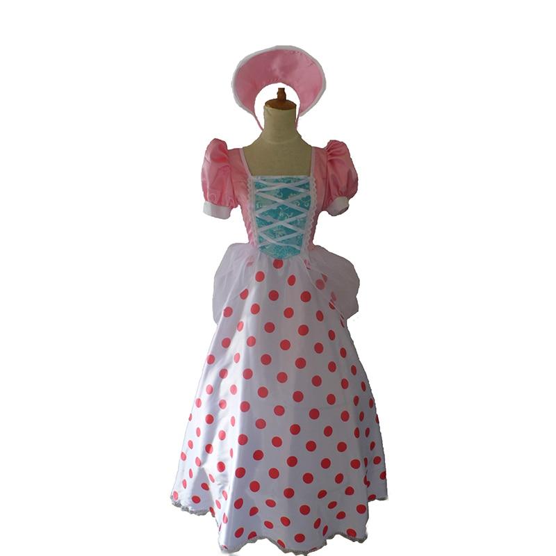 Cartoon Movie Toy Story Bo Peep Cosplay Costumebo Peep Cosplay Dress With Hat