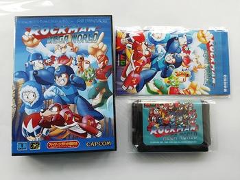 MD Game : ROCKMAN MEGA WORLD ( Japan Version!! box+manual+cartridge!! )