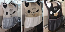 NEWEST!!Auto Storage Bag, Vehicle Seat Sundry Cartoon Microfiber PU Hanging Bag,Car Storage Bag.Trendy and High Quality