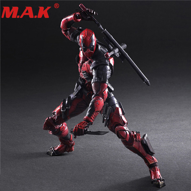 26cm Ryan Reynolds deadpool movie PVC anime figure model collection gifts for kids boys
