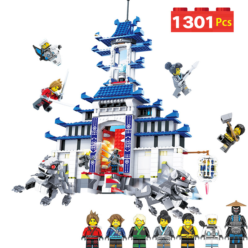 Temple of The Ultimate Ultimate Weapon Building Blocks Compatible with LegoINGLYS Ninjagoed Movie Fire Mech Model Bricks for Kid семена смесь цветочная почвопокрованя смесь 4г