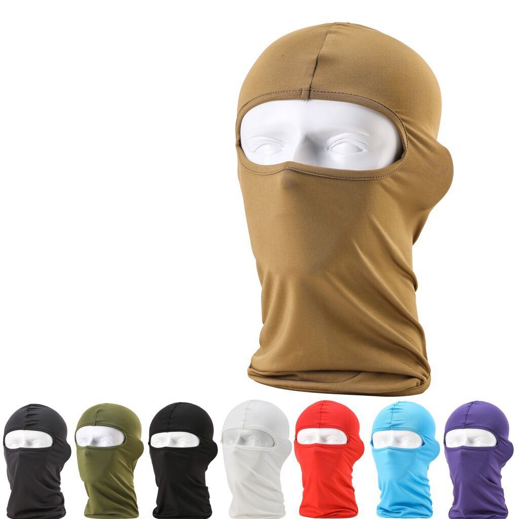 NEW Comfortable Lycra Balaclava Headwear solid Face Mask Helmet Inner Cap Ski Motorcycle Veil Cotton Full Face Neck Guard Masks