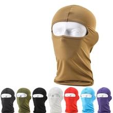 NEW Comfortable Lycra Balaclava Headwear solid Face Mask Helmet Inner Cap Ski Motorcycle Veil Cotton Full Face Neck Guard Masks