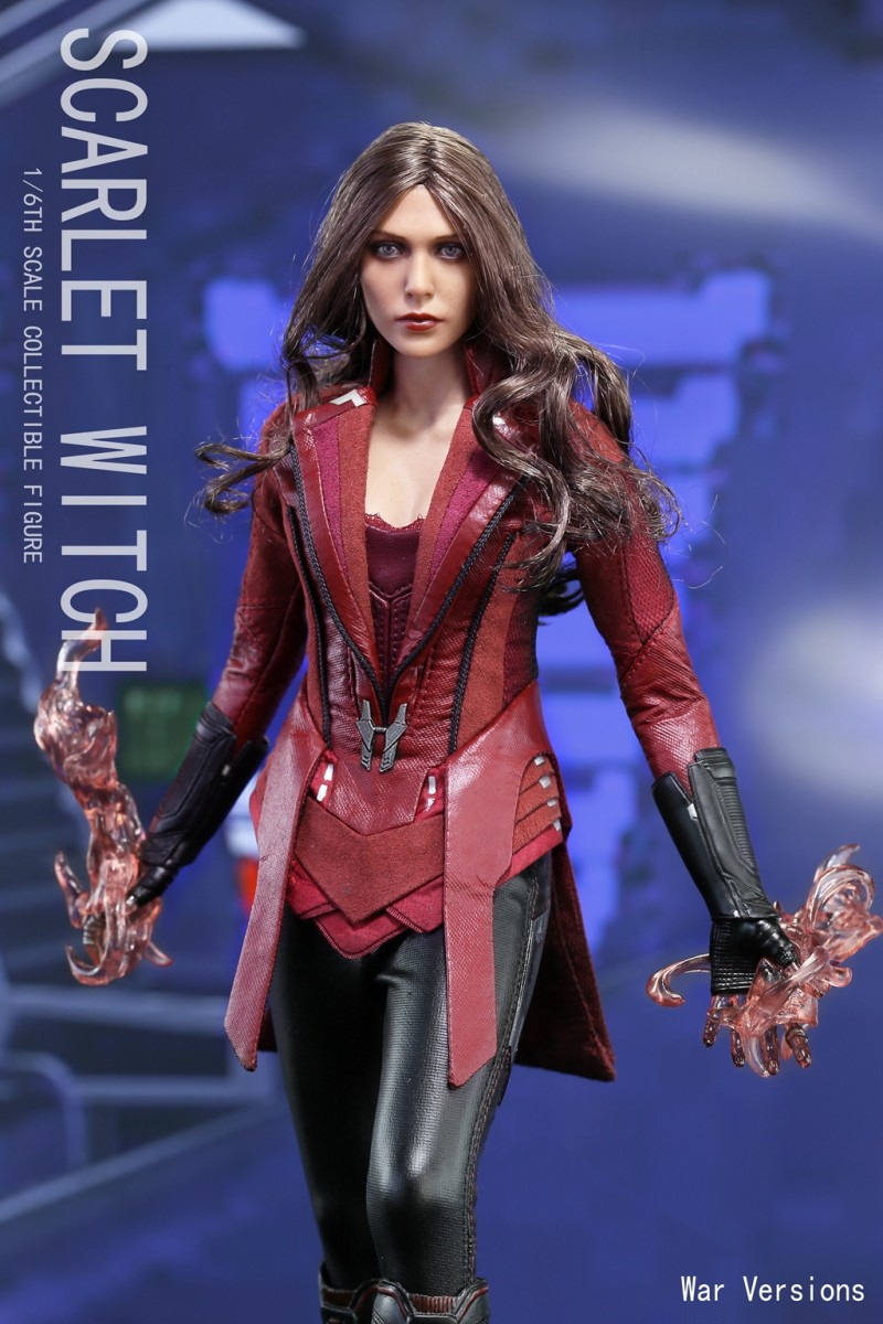 1/6 Avengers Age of Ultron Wanda Scarlet Witch Action Figure Battle Version Collection Model Toys new hot 17cm avengers thor action figure toys collection christmas gift doll with box j h a c g
