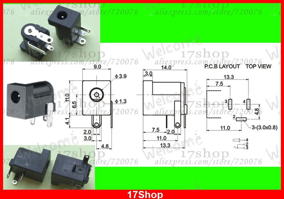 Здесь можно купить   500PCS 3.5mm X 1.3MM DC socket jack Female PCB Charger Power Plug soldering Строительство и Недвижимость