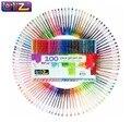LolliZ Kinder Farbige 100 Stücke Gelschreiber Set W/Bonus 12 Farben Minen Glitter Neon Milchig Swirl Büro Schulbedarf|gel pen set|pen setgel pen -
