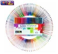 LolliZ Children Color Art 100Pcs Gel Pens Set Colors Included Classic Glitter Neon Standard Milky Swirl
