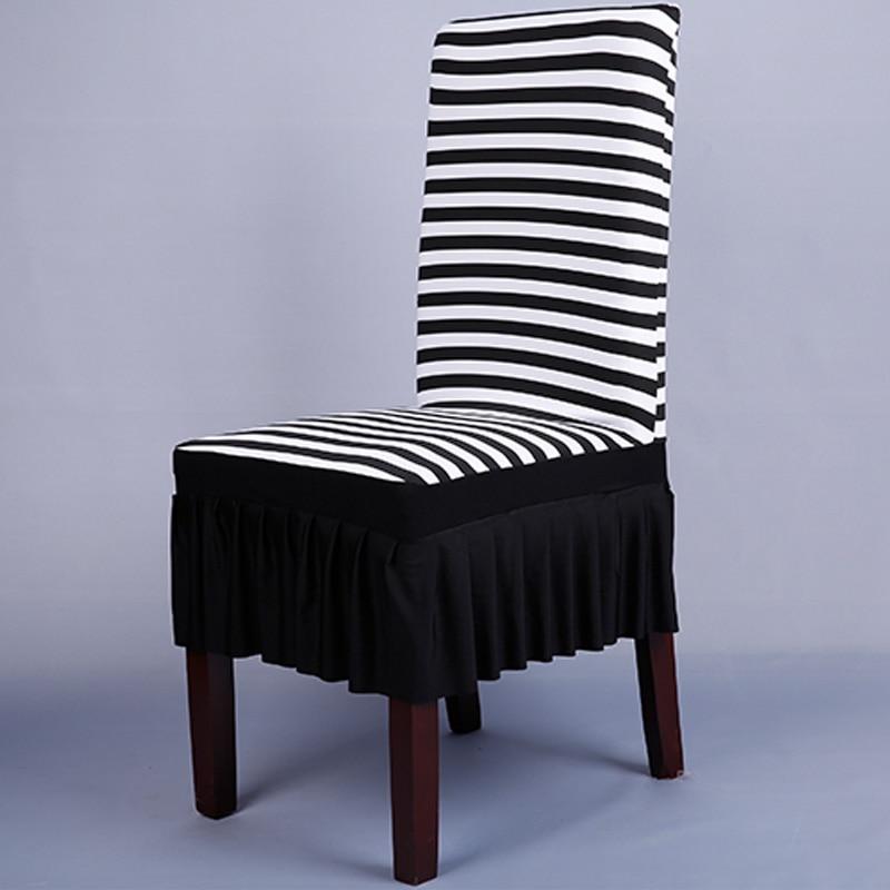 White Black Chair Covers Spandex Zebra Striped Pattern