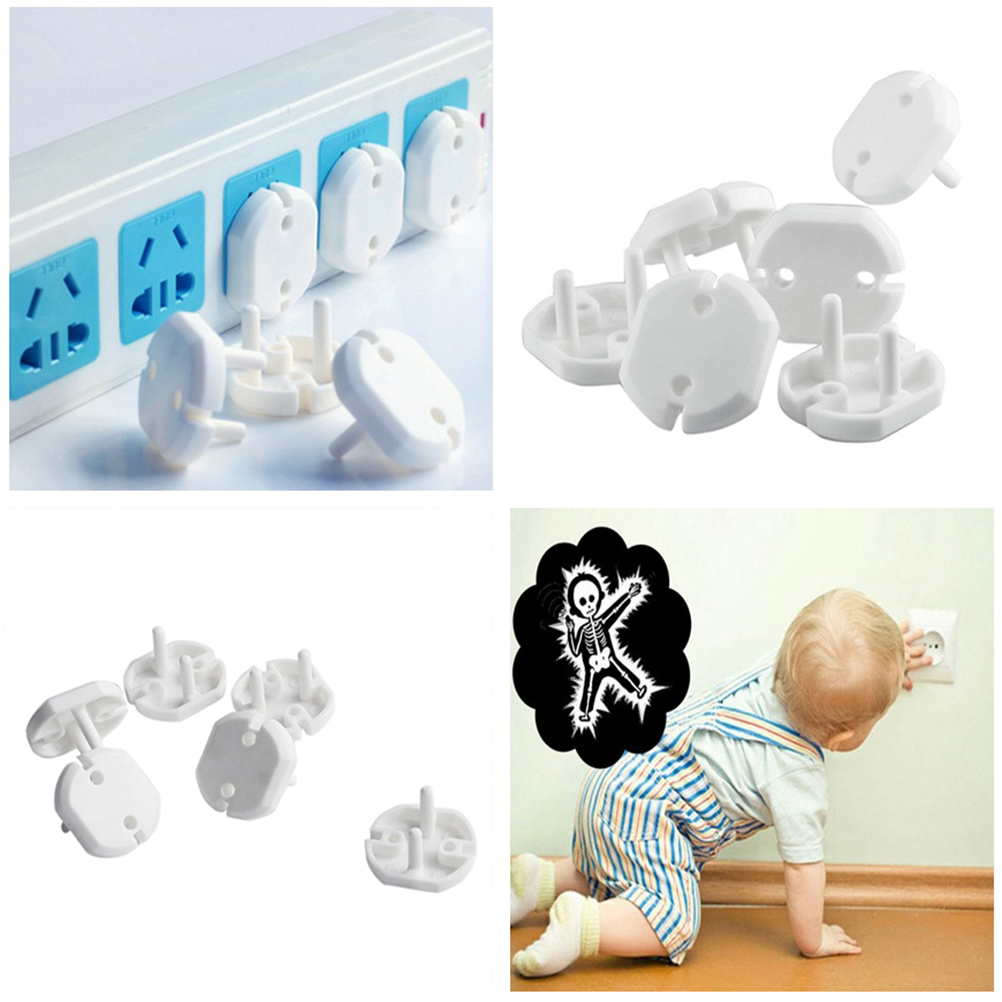 10pcs Electric Anti Shock Plugs Protector Cover EU Power Socket Electrical Outlet Safety Guard Protection For Baby Kids Child